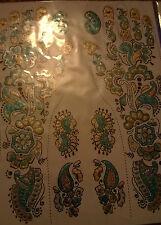 GLITTER Henné Impermeabile Adesivo TEMPORANEO BODY ART Tatuaggi Set di 8/10 Tatuaggi