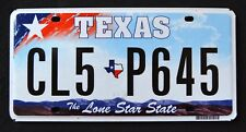 """TEXAS """" LONE STAR STATE - MAP CL5 P645 """" DISCONTINUED """" TX Graphic License Plate"""