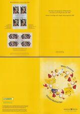 Klappkarte Weihnachten 2008, Dt. Post World Net (je Viererblock MiNr.2703-04)