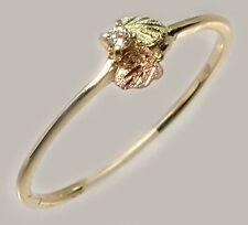 Handcrafted Black Hills Dakota Red Green 12kt Gold Diamond Accent Roman Etruscan
