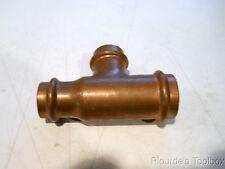 """New Viega ProPress Copper Reducing Tee 77407, 1""""x 3/4"""" x 3/4"""", 200 PSI, 250°F"""