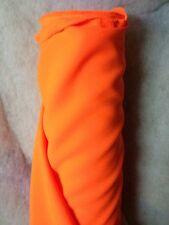 Tissu au mètre BURLINGTON Orange Fluo infroissable déco habillement large 150cm
