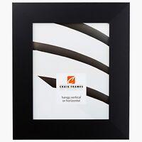 "Craig Frames Bauhaus, 2"" Modern Mystic Black Satin Picture Frame Poster Frame"