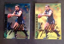 1996 SELECT AFL SILVER & GOLD CARDS PERSONALLY SIGNED GREG WILLIAMS CARLTON