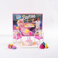 Mattel Happy Birthday Barbie Partytime Play Set No. 7552 Vintage Toy 1990