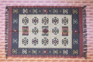 Hand-Woven Tribal 4x6 Feet Multi Color Turkish Kilim Oriental Area Rug Carpet