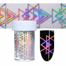 Holo Starry Nail Foil Triangle Laser 3D Nail Art Tips Transfer Sticker Manicure