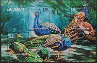 Niger 2015 /Birds - Peacocks / 4v minisheet MNH