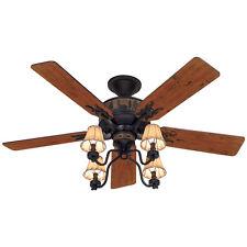 52-in Brittany Bronze 5-Blades Adirondack Close Mount Indoor Ceiling Fan Light