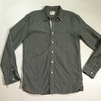 AG Adriano Goldschmied Womens Size Small Long Sleeve Button Down Top Shirt Gray