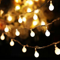 Fairy LED String Lights Xmas Round Ball Bulb Wedding Party Lamp 1M 2M 3M 5M RD