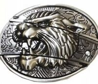 Tiger HIGH QUALITY Belt Buckle REMOVABLE 3D Cowboy SILVER  western men women