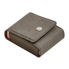 LEATHERETTE PLAYING CARDS CASE GREY 3.75