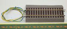 Voie ROCO LINE - Rail DROIT 115 mm av Ballast + fils Alim - ref 42520 - Code 83