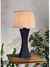 Bronze Rattan Weave Outdoor/Indoor Table Lamp Woven Texture ~ Durable Twist Base