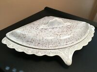 *Vintage MCM William Frazier California Pottery Speckled 501 TRIANGLE DISH w/LID