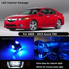 14PCS Blue Interior LED Bulbs for 2009 - 2015 Acura TSX White for License Plate