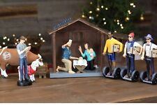 Millennial Nativity Figurine and Stable Set - Hipster Nativity Scene - Holiday =
