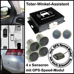 Toter-Winkel-Assistent  mit 4 x Universal-High-Class-Sensoren & GPS-Speed-Modul