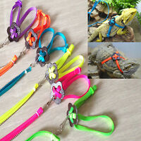 EE_ Adjustable Reptile Lizard Harness Leash Durable Multicolor Pet Soft Rope Che