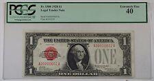 1928 Low Serial Number 602 U.S. $1 Dollar Legal Tender Note Fr. 1500 PCGS EF-40