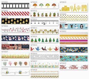 58 Designs Of Premium Cute Washi Tape - UK Stock  Free P&P - Scrapbook Planner