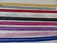 5 metres x 10mm  Satin/Velvet/Glitter Ribbon: Chevron - Select from 9 colourways