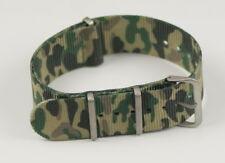 Cinturino In Nylon Universale Ricambio Orologio Larghezza 18mm Camouflage lac