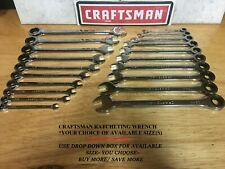 Craftsman Combination Ratcheting Wrench Sae Or Metric Polished Choice Of Size