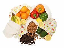 Reusable Produce Bags Cotton Washable | Cloth Bag w/ Drawstring | Organic Cotton