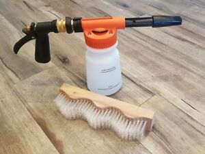 Roof Cleaning Combo - Corrugated Roof Brush + Soap Foaming Gun