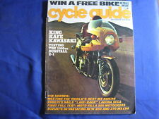 CYCLE GUIDE Magazine-NOV 1975-SUZ RM250/370-MOTO VILLA 250MX-MARTY SMITH-VINTAGE
