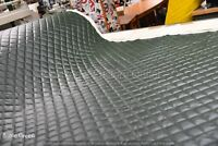 Waterproof Quilted Green PVC Fabric Heavy Duty Padded Pre-Quilted Material Thick