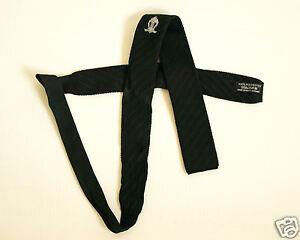 VINTAGE Men's Skinny Tie. Black polyester 133 CM X 5 CM Wide.