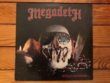 Megadeth – Killing Is My Business... 1985  Combat MX 8015 Jacket/Vinyl VG+