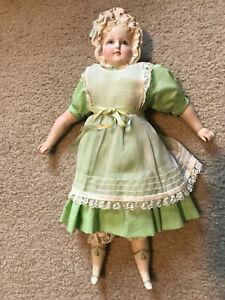 """VINTAGE Gorgeous 16"""" Antique Bonnet Head Parian China ARTIST Doll Porcelain"""
