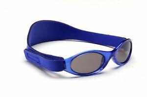 Baby Banz Sunglasses 100% UV Protection Soft Neoprene Band Blue Children 6-18m