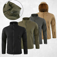 Jacket Soft Army Waterproof Outdoor COMBAT Tactical Windbreaker Coat Shell Mens