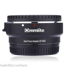 Commlite CM-EF-NEX B Aperture Control Lens Mount Adapter Ring for Sony to Canon