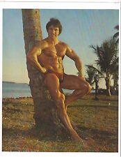 bodybuilder JOE NAZARIO Outdoors Bodybuilding Muscle Photo Color