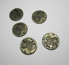 5 steam punk gear clock vintage mechanical bronze charms for jewellery making