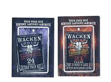 Wacken Pässe - Pass 2012 und Pass 2013 im Set - wie abgebildet
