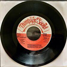 BARRINGTON LEVY Poor Man Style / Dub VG+ Jamaican Import 45RPM - THOMPSON SOUND
