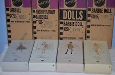 4 Barbie Platinum Label Precious Metal Collection - Gold Silver Rose Platinum
