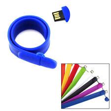 8Go USB 2.0 Clé USB Clef Mémoire Flash Data Stockage / Bracelet Bleu