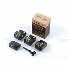 Radio Flash Wireless Trigger with 3 Receivers for Canon Nikon Pentax Speedlight
