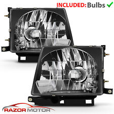 Jdm Black Headlight Pair With Bulb For Toyota Tacoma 1997 2000 2wd 1998 2000 4wd Fits 1998 Tacoma