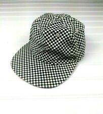 Vans Checkerboard Hat Black White Trucker Hat Adjustable Skater One Size Mens