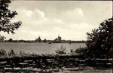 Altefähr Insel Rügen DDR frankiert 1960 Panorama Blick Altefähr nach Stralsund