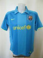 5+/5 FC Barcelona 2007/2008 Away Sz L Nike shirt jersey maillot football soccer
